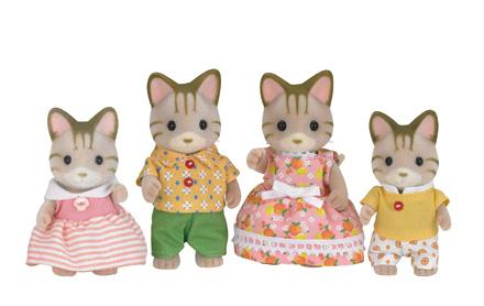 famille chat tigré