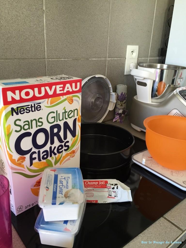 Cheese cake Corn Flakes