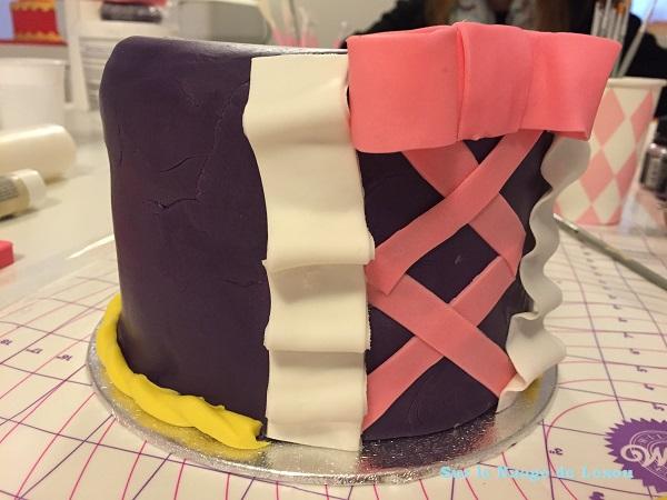 Gâteau raiponce pâte à sucre