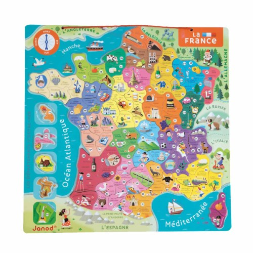Carte de France méagntique puzzle enfant