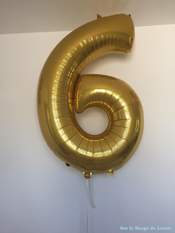 Ballon chiffre 6