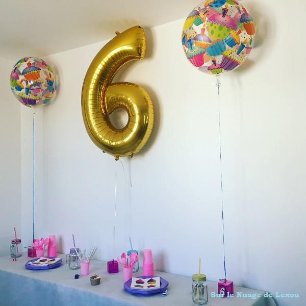 table anniversaire 6 ans fille