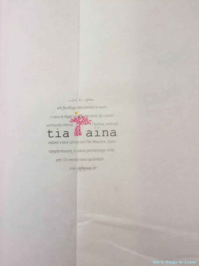 Tia Aina emballage