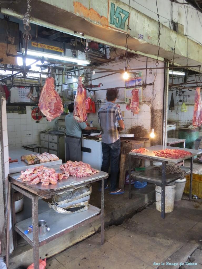 Viande marché Kandy