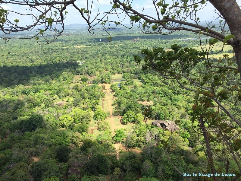 vue Sigiriya rocher