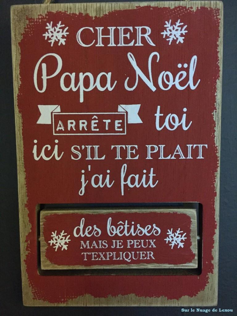Panneau message Père Noël