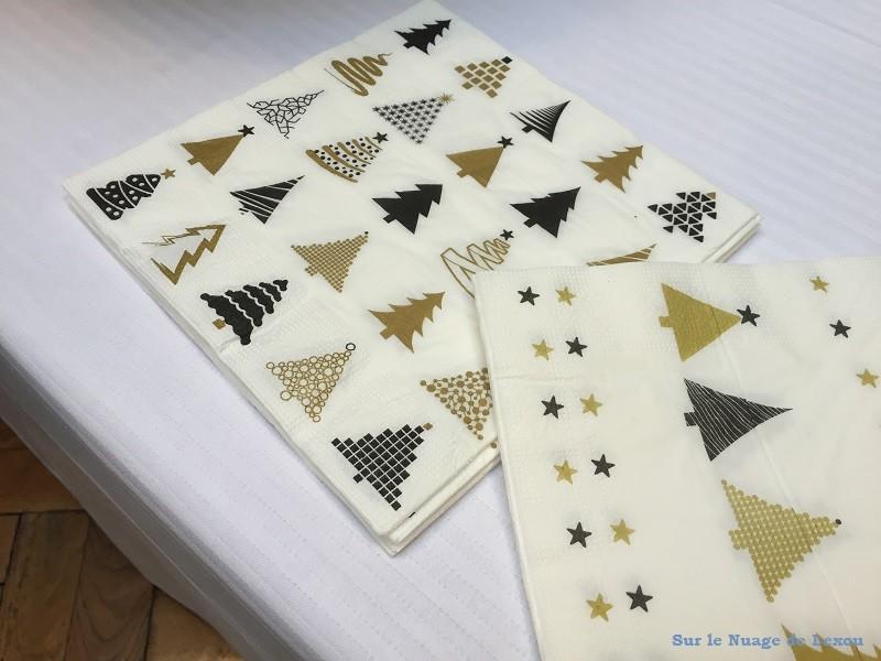 Serviette papier déco Noël