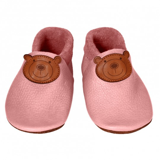 CHAUSSONS CUIR ROSE NATALYS