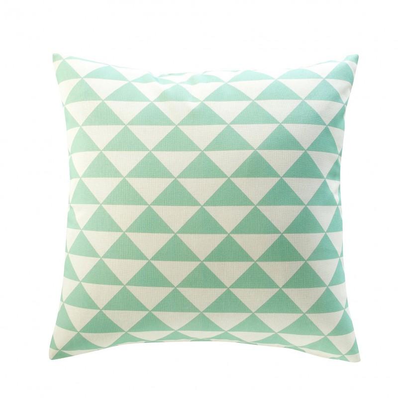 Housse de coussin coton d+®co triangles