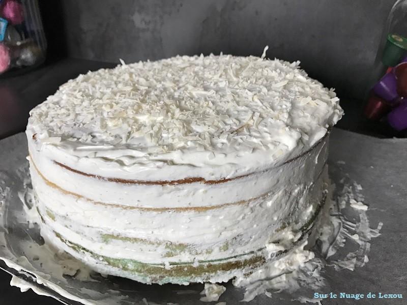 RAINBOW CAKE MOUSSE CHOCOLAT BANC COCO