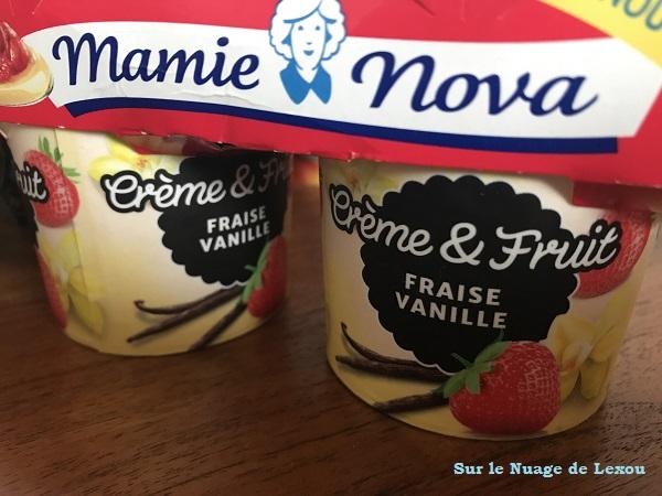CREME ET FRUITS MAMIE NOVA FRAISE VANILLE