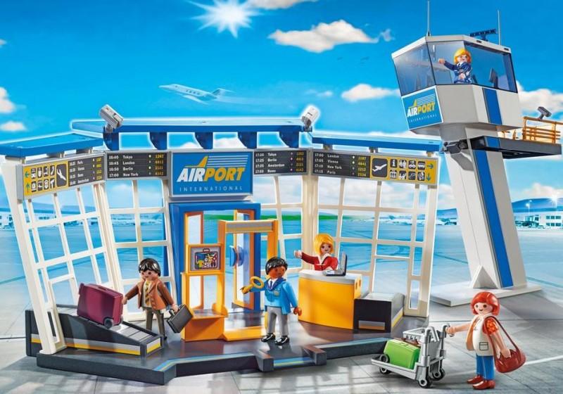 L'aéroport Playmobil avec tour de contrôle