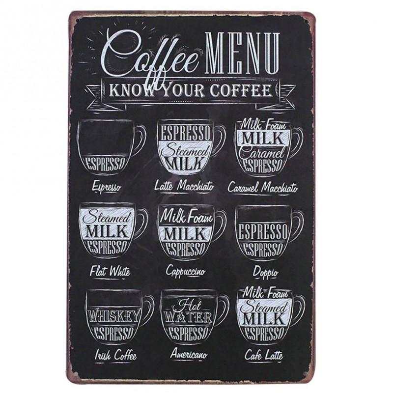 Une plaque spéciale café pour accrocher dans la cuisine...