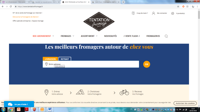 TENTATIONS FROMAGE