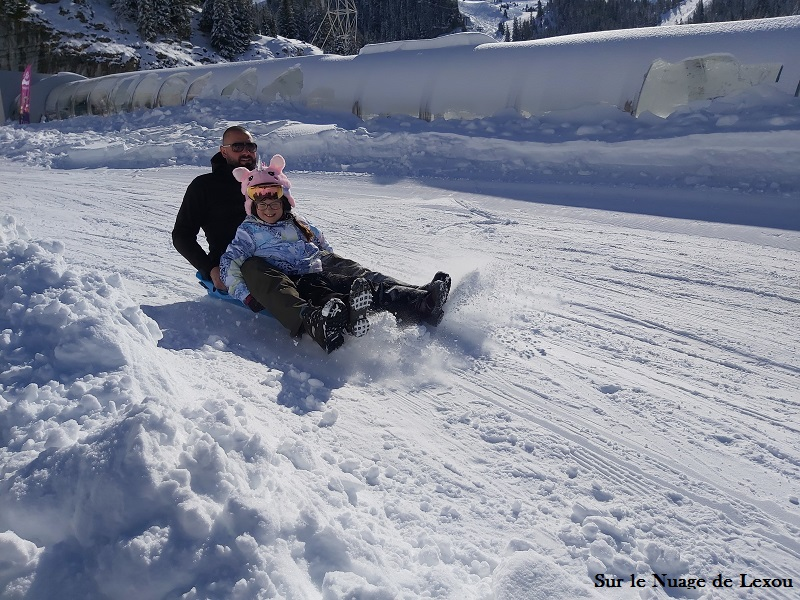 luge famille FLAINE