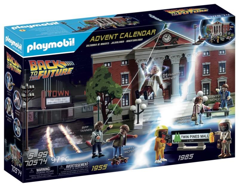 Box Calendrier de l'Avent Retour vers le futur PLAYMOBIL