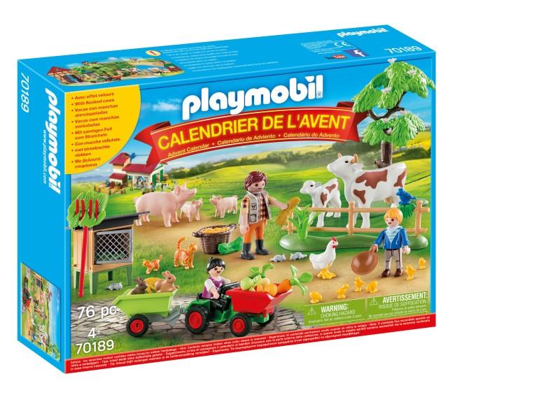 Box calendrier de l'avent les animaux de la ferme PLAYMOBIL
