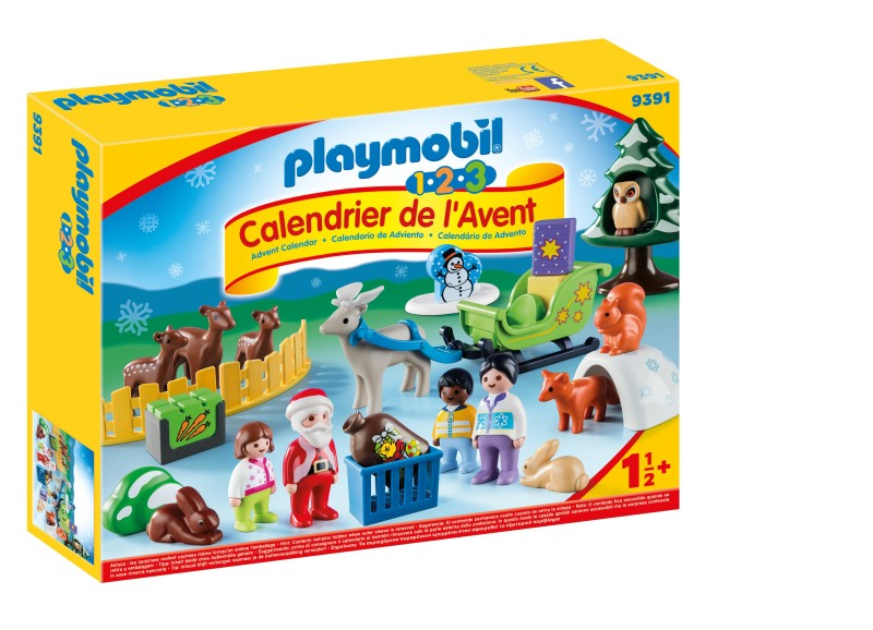 calendrier 123 animaux PLAYMOBIL boite